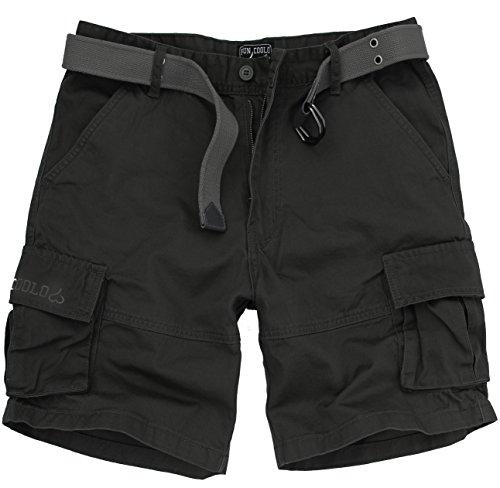 Fun Coolo Pantaloncini Corti Bermuda Cargo Short con tasconi Laterali, con Cintura Mimetico S 46