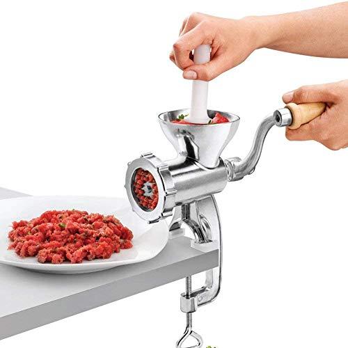 koulate Máquina picadora de Carne picadora de Mano con Abrazadera de Mesa Máquina de Picar Carne y Salchicha de Hierro Fundido Adecuado para una Variedad de restaurantes, comedores, talleres
