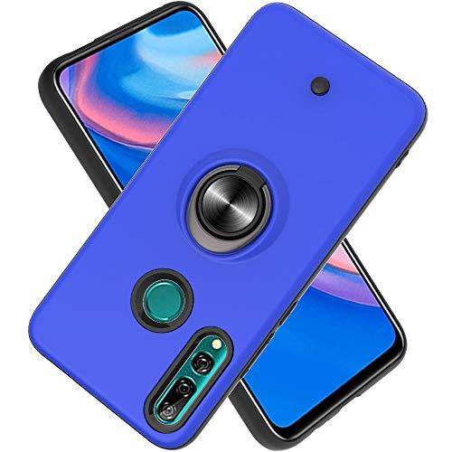 FAWUMAN Hülle für Huawei P Smart Z / Y9 Prime (2019) mit Standfunktion, Dekomprimierungsknopf, Rotationsgyroskop, PC + TPU Handyhülle Stossfest Case -Navy blau