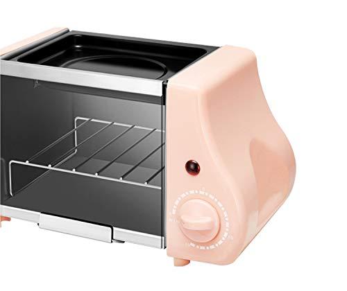 Mini elektrische Backbäckerei Ofen Rührei Spiegeleier Bratpfanne Frühstücksmaschine Toaster Multifunktion