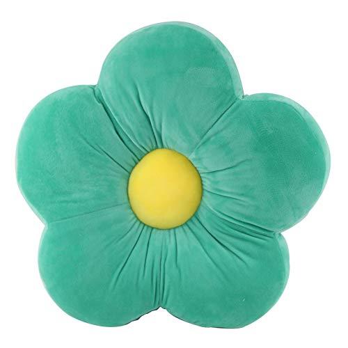 ZYBCQL Floor Cushion Children,Flower Sofa Tatami Chair Pad Floor Pillow,Soft Thicken Yoga Meditation Cushion For Home Decor Reading Nook-Green 50cm(20inch)