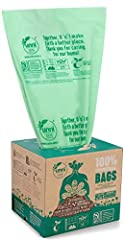 2.6 Gallon / 9.84 Liter capacity; Size: 16.3 in x 16.5 in x 0.71 Mils; 100 Bags Per Roll CERTIFIED COMPOSTABLE IN U.S. & EUROPE: Certified by the Biodegradable Products Institute (BPI) under US standard ASTM D6400. Certified OK Compost Home under Eur...