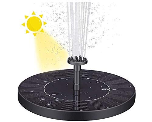 VITCOCO Solar Springbrunnen 3.0W Solar Teichpumpe mit Solar Panel Eingebaute Batterie Wasserpumpe Solar Schwimmender Fontäne Pumpe mit 6 Fontänenstile für Garten, Vogel-Bad,Teich,Fisch-Behälter