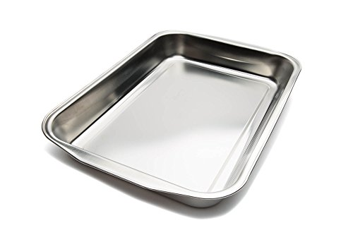 Fox Run Roasting Stainless Steel Baking Pans, 14.5 inches