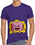 Photo de style3 Krang T-Shirt Homme Turtles Teenage Comic Mutant Ninja, Taille:2XL, Couleur:Violet