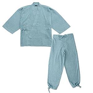 wasuian Men's Samue Work Clothing Splashed Pattern Pongee