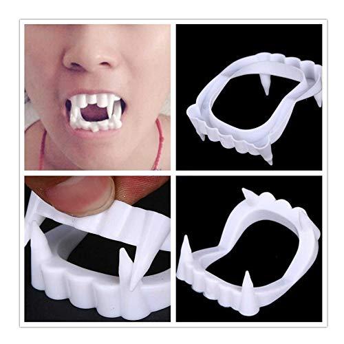 SHATCHI-Confezione 12 pezzi di dracola con denti vampiri bianchi spaventosi Halloween per feste per adulti e bambini, 5056141021997