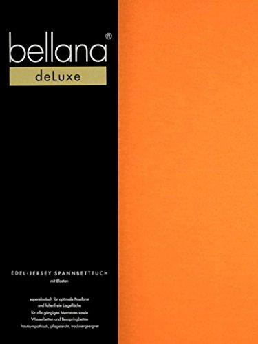 Bellana® Deluxe Spannbetttuch für Wasserbetten und Boxspringbetten, 90-120 x 200-220 cm, Papaya