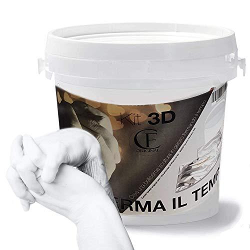 CF Original Calco Mani e Piedi con Alginato e Kit 3D Gesso Stampi per mani di Impronte Bambino Adulti e Coppia Kit Completo Esecuzione Semplice Istruzioni in Italiano Made in Italy 100%