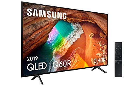 "Samsung QLED 4K 2019 55Q60R - Smart TV de 55"" con Resolución 4K UHD, Supreme Ultra Dimming, Q HDR, Inteligencia Artificial 4K, One Remote Control, Apple TV y compatible con Alexa"