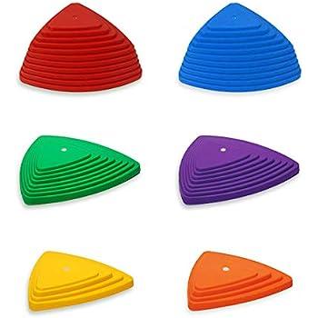 HAMILO 子供用バランスボード 屋内遊具 バランスストーン 屋内バランス遊具 (6点セット)