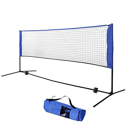 Adjustable Height Portable Badminton Net, Kids Volleyball, Tennis, Pickleball, With Carry Bag, for Outdoor/Indoor Court, Backyard, Beach