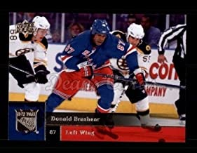 2009 Upper Deck # 316 Donald Brashear New York Rangers (Hockey Card) Dean's Cards 8 - NM/MT Rangers