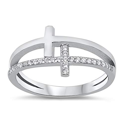 double cross ring - 8