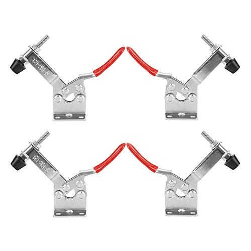 JULAU 4PCS Hand Tool Toggle Clamp Hold Down Toggle Clamps Latch Antislip Tool Holding Capacity Horizontal 201B 220lbs Heavy Duty Quick Release Tool