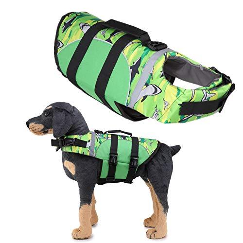 AOOCEEH Schwimmweste Hund Hunde Schwimmwesten Hundeschwimmweste Hunde Warnweste Schwimmwesten FüR Hunde Ruffwear Schwimmweste Hund Warnwesten FüR Hunde Schwimmweste Hunde 06green,m
