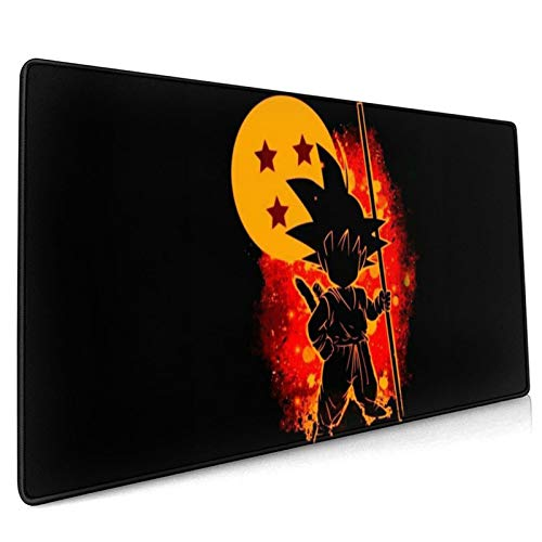 Rectangle Rubber Mouse Pads,Kid Goku Dragon Ball Z Mouse Pad 15.8x35.5 Inch Desk Pad,Soft Comfortable Computer Gaming Pad for Home PC Decor