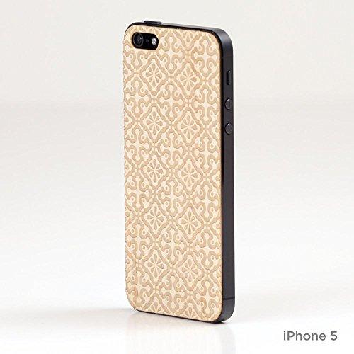 Lazerwood 25400–Cover in Legno per Apple iPhone 5/5S con Protezione Schermo, Clementine Acero