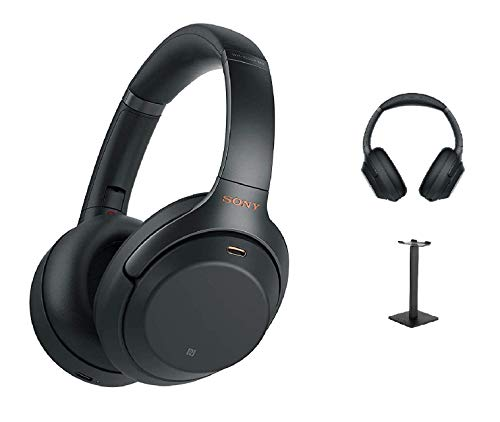 WH-1000XM3 Wireless Noise Cancelling Headphones with Headset Stand - Black