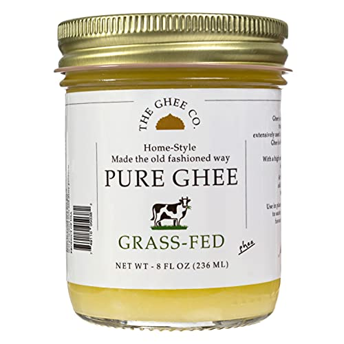The Ghee Co, Product- Ghee, 8 oz , Glass Jar, Made with Grade AA butter, pure ghee, clarified butter, ghee butter