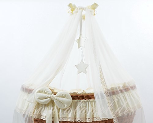Bedding Set with Drape for Ophelia Wicker Crib Moses Basket from ALANEL