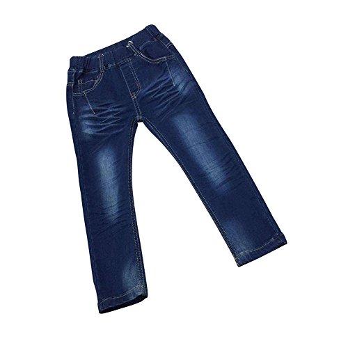 Zier Bambini Lungo Del Denim Dei Jeans Mutanda Casuale Pull Up Elastico Regolabile 33858
