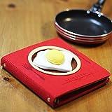 Diario Cuaderno Cuaderno De La Serie Gourmet Cuaderno Portátil Bloc De Notas-Plato Vacío Rojo + Huevo Frito1494