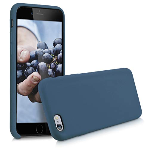 kwmobile Funda Compatible con Apple iPhone 6 / 6S - Funda Carcasa de TPU para móvil - Cover Trasero en Azul Oscuro