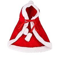 猫服 犬服 クリスマス コスプレ サンタ 帽子 クリスマス マント サンタ コスチューム 仮装 猫の服 クリスマス アクセサリー 冬 暖かい 防寒 キュートで人気があり、着脱が簡単 小型犬 (L)