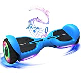 TOMOLOO Hoverboard for Kids and Adults with LED Lights and Bluetooth Speakers,Electric Hover Board with UL2272 Certified,Two-Wheel Mechanical Self Balancing Scooters Hoverboards for Boys and Girls