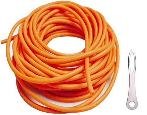 Fionda Elastico Slingshot Catapulta Elastici,10m 3x6Mm di Professionale da Caccia Ricambio per Adulti Cinturino per Tiri da Esterno Esercizi Bersaglio con Uno Strumento di Assistiva (3060,Orange)