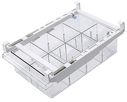 Cajón de Organización para Nevera, ZoneYan Caja de Almacenamiento para Frigorífico, Organizador de Nevera Transparente, Frigorifico Cajones Extraibles (8 Cuadrícula)
