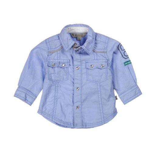 Kanz Baby - Jungen Hemd 1322557, Gr. 68, Blau (3094)
