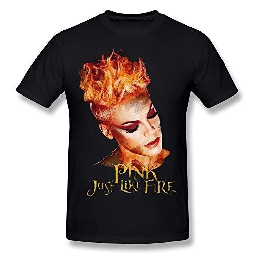 100% Men's Just Like Fire P!nk Causal T-Shirt