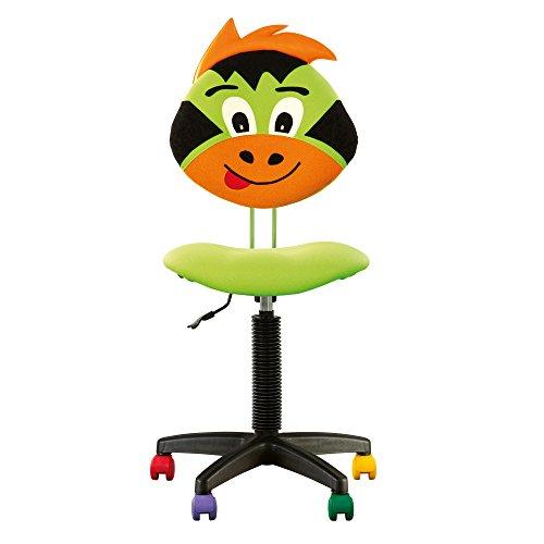 Joy - Chaise DE Bureau Enfant Ergonomique, Hauteur du Dossier RÉGLABLE, Profondeur D'ASSISE RÉGLABLE, roulettes Multicolores. (Vert)