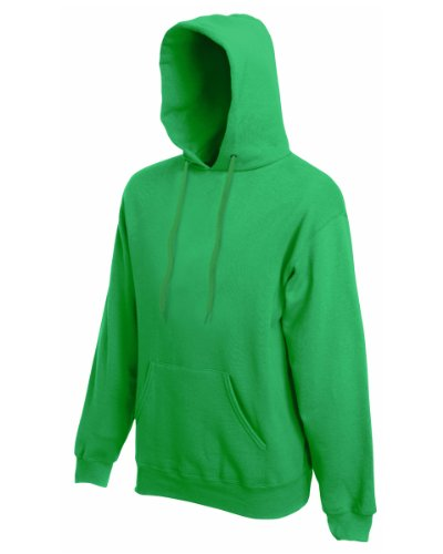 Mens Fruit Of The Loom Sweat-shirts à capuche Kelly Green-Taille L