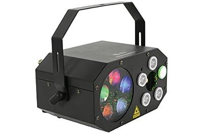 QTX Gobo Starwash 3 in 1 Multi Light Colour Effect w/Remote DJ Event Party Auto/Sound Activated