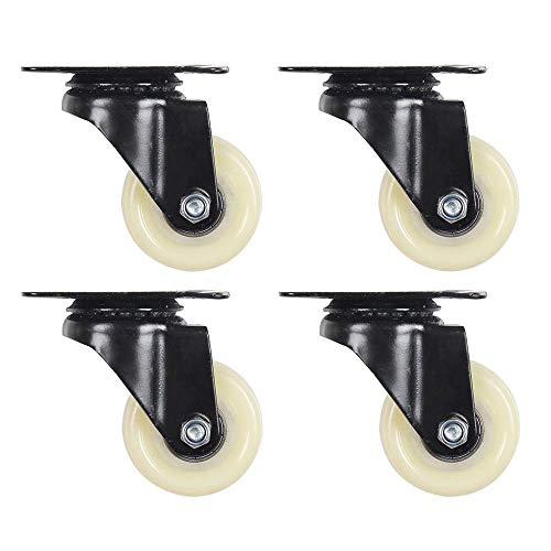 Ruedas De Andamio Para La Industria Ruedas Giratorias De 4 Piezas De Nailon Blanco Mediano Ruedas Universales Reemplazar Accesorios Rueda De Freno Placa De Acero Gruesa / Ruedas E / 2 Pulgadas Ruedas