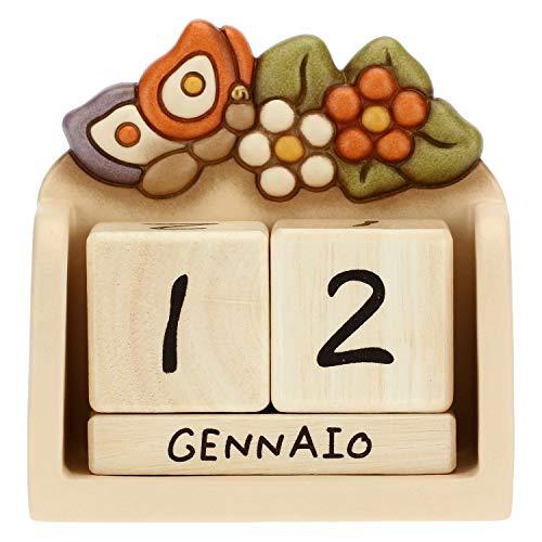 THUN-Calendario perpetuo da tavolo in ceramica Country con farfalla