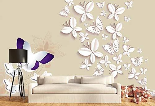 Papel Pintado 3D Origami Mariposa Simple Fotomurales Decorativos Pared 3D
