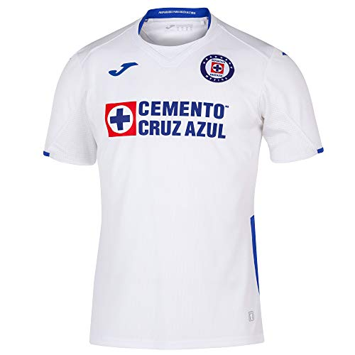Joma 2019/2020 Cruz Azul Jersey's (White, Large)