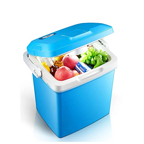ZLININ Coche refrigerador 26L Coche Mini refrigerador Mini refrigerador Calefacción de refrigeración para Uso doméstico y de automóvil Congelador portátil 12V 220V