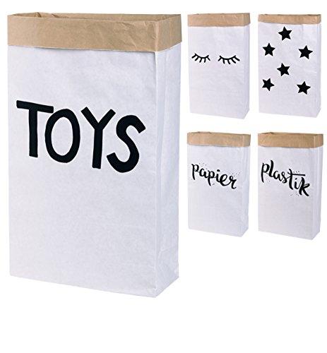 Papieren zak Paper Bag vierkant van kraftpapier Bruin Wit