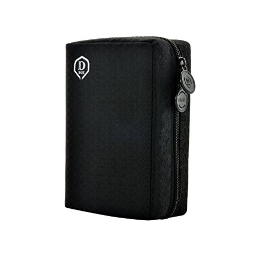 ONE80 Double Darttasche für Darts Dart Wallet Dart Cases (Schwarz)