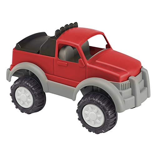 American Plastic Toys Kids' Gigantic Pick-Up Truck, Large Truck Bed with Realistic Tonneau Cover, Knobby Wheels and Metal Axles Fit for Indoors and Outdoors, Haul Sand, Dirt, or Toys, for Ages 2+