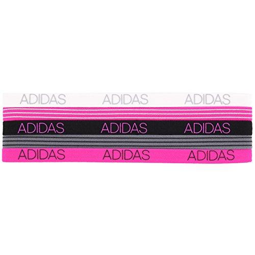 adidas Women's 5pk Creator Hairband, Grey/White/Black/Shock Pink, ONE SIZE