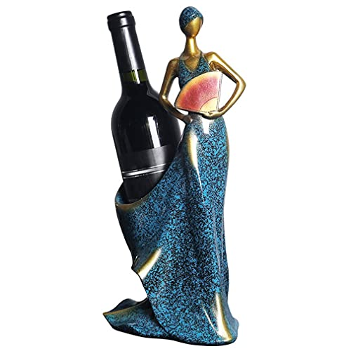 Estante para Botellas de Vino para niña Decoraciones para estantes de Vino de Estilo Europeo Accesorios para el hogar BS811 29 * 10.5 * 23cm