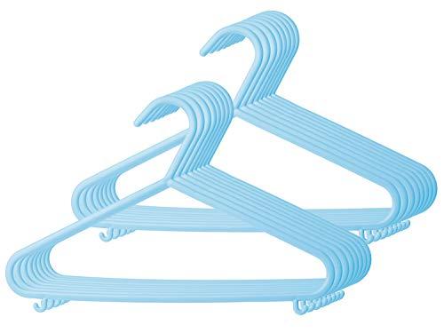 Bieco Kleiderbügel Kinder 16 St. Eisblau | Länge ca 30 cm | Baby Kleiderbügel | Kunststoff Kleiderbügel Kinder Baby | Baby Organiser Für Kleiderschrank | Kleiderbügel Baby | Baby Clothes Hangers