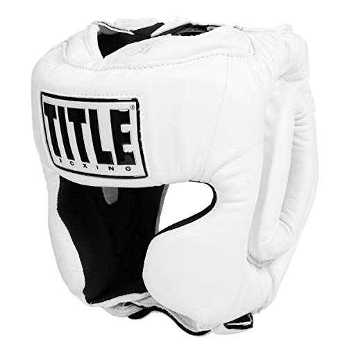 Title USA Boxing Masters Competition Headgear, White, Small