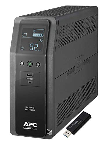 APC Sine Wave UPS Battery Backup & Surge Protector, 1000VA, APC...